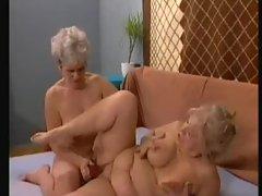 Granny babes fucked hard in hot scene