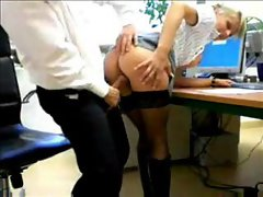 Super pretty blonde secretary taking boss cock