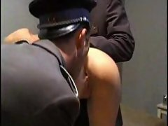 Slut in jail nailed by horny guys
