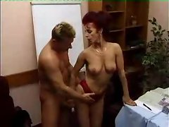 Fucking a lusty redhead in her pussy