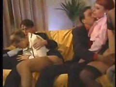 Glamorous Italian babes in orgy scene