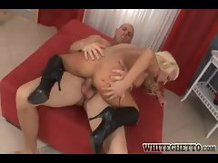 Hard big cock fuck inside this blonde slut