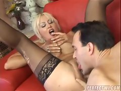 Shaved milf pussy fucked by a hot dick