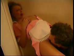 Slutty maid gets a good cock fucking