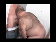 Toilet playing with a mature daddy &amp, a bear - by neurosiss
