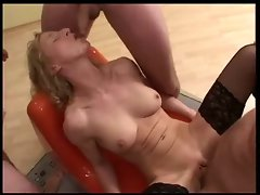 German Mature Gangbang &amp, Covered In Cum