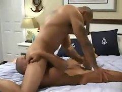 Trio anal copulation with double penetration.