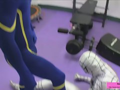 Superheroes Training Ballbusting CBT Male-Male