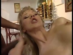 Beautiful Russian Bitch fucks two Huge Brazilian BBC