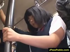 Hot Young Japanese babes Fuck In Public video-07