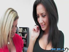 Jayden James and Sara Jay are Busty Office Lesbians