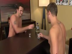 Drinking game leads to a blowjob for these gay jocks