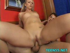 Teen slut finds a big dick