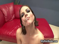 Bobbi Starr takes so much cum to the face at the e