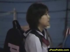 Hot Young Japanese babes Fuck In Public video-35