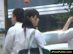 Hot Young Japanese babes Fuck In Public video-31