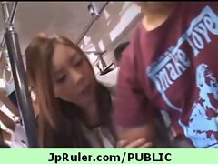 Horny japanese girl gets fucked in public video 38