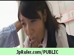 Horny japanese girl gets fucked in public video 21