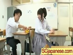 Asians In School Uniform Get Fucked Hard vid-31