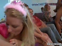Horny cock sucking on a hot bachelorette party