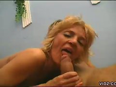 Two sexy blonde old bimbos nurture holes