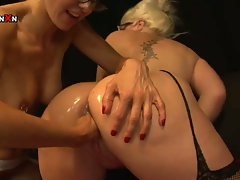 Mandy cinn and amica bentley in hot british lesbian fisting in hd