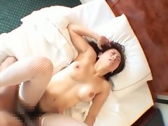 Asian babe fucked in hairy pussy on pov