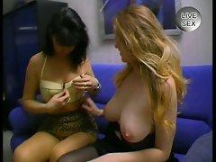 Lesbian babes love sex videos