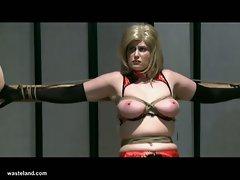 Busty blonde jada sinn bound to chair and tortured