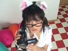 Innocent looking yet super naughty asian teen teasing on cam