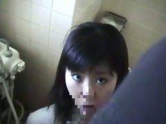 Asian hot slave sucks her master's big dick