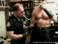 Blowjob with two hot gay cops that love pumping big dicks