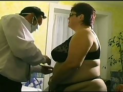 Fatty slut fucked hard in medical examination