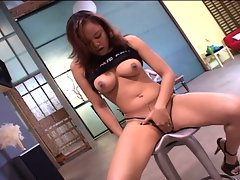 Busty asian babe gets pussy pounded
