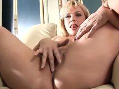 Mature older blonde anal bead play !