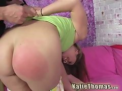 Gorgeous chick katie thomas gets her ass spanked