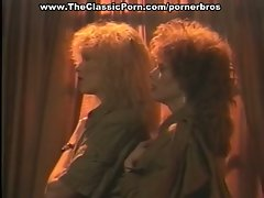 Vintage redhead and blonde lesbians fuck