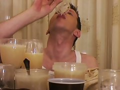 White sperm gay lover who loves drinking tons of cum