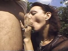 Bisexual dream fuck by two dude and one slut in outdoor !
