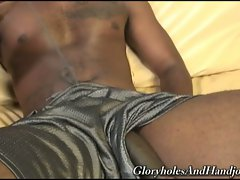 Monster black boner enjoying hot white gay hands stroking