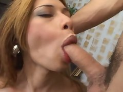 Gay hunk gets a nasty tranny fuck