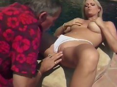 Teen slut loves fucking big old dicks
