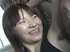 Cute asian milf gets her armpit fucked