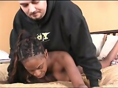 Be mesmerized with this voluptuous ebony chick as she deep throats...