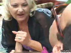 Anastasia Sands is one smooth talker. Watch this mature blonde bitch...