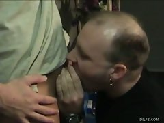 Ever since this balding mature man\'s wife moved out on him, he has...