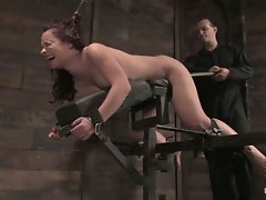 Horny Russian rope slut Olga Cabaeva bound and fucked silly....