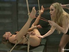 Lesbian Slave Training Ariel X -Featured Trainer-Aiden Starr...