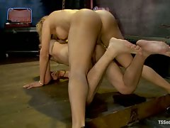 Latina Ts Johanna B, fucks boy band drummer with her stiff dick,...