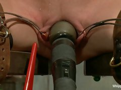 Sexy hard bodied nurse is tied up, subjected to lesbian punishment...